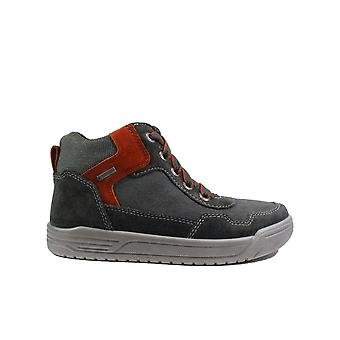Superfit 09058-20 Grey Suede Leather Boys Lace/Zip Ankle Boots