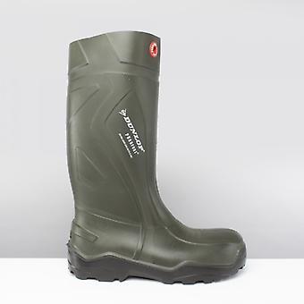 Dunlop Purofort+ Unisex Non-safety Wellington Boots Green