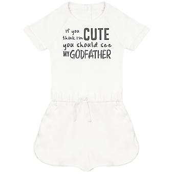 If You Think I'm Cute You Should See My GodFather Baby Playsuit