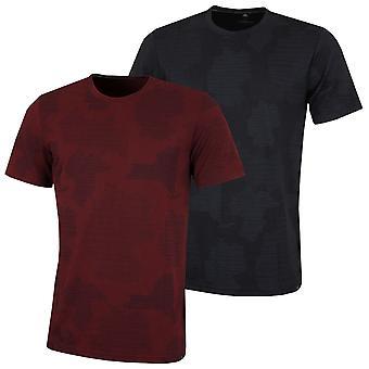 adidas Hombres Golf Adicross Impresión Gráfica Ligera Camiseta Suave