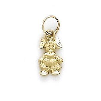 14k Geel Goud Klein Meisje Charme Hanger Hanger Sieraden Geschenken voor vrouwen - .6 Gram