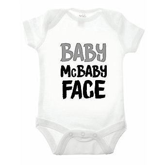 Todellisuus glitchbaby mcbaby Face valkoinen lyhythihainen babygrow