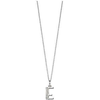 Beginnings Art Deco Initial E Pendant - Silver