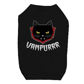Vampurrr Funny Halloween Graphic Design Black Pet Shirt for Small Dogs