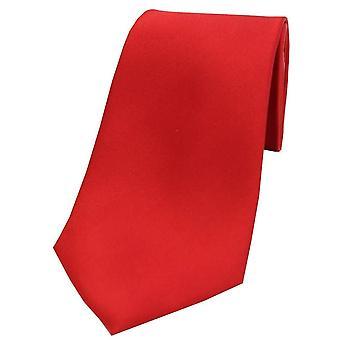 David Van Hagen Satin Seide Krawatte - rot
