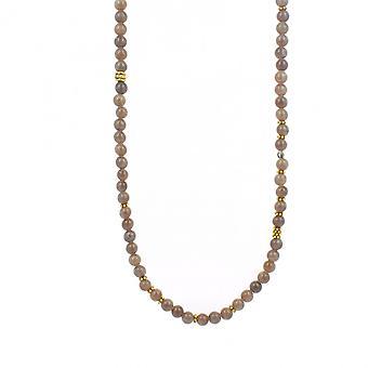 Necklace and pendant Les Interchangeables A59275 - Sautoir Bobo Chic Beige Ros / women's fonc