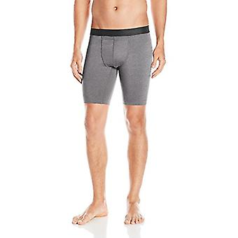 Hanes Men's Sport Performance Compression, Charcoal Heather/Ebony, Size Small