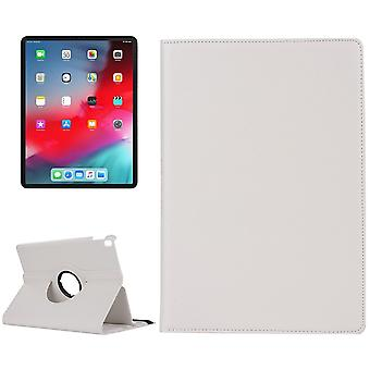 For iPad Pro 11 Inch (2018) Case,Lychee Texture PU Leather Folio Cover,White