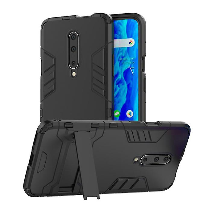 HATOLY iPhone 11 Pro - Robotic Armor Case Cover Cas TPU Case Black + Kickstand