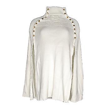 G.I.L.I. got it love it Women's Sweater (XXS) Cape Buttons Ivory A299529