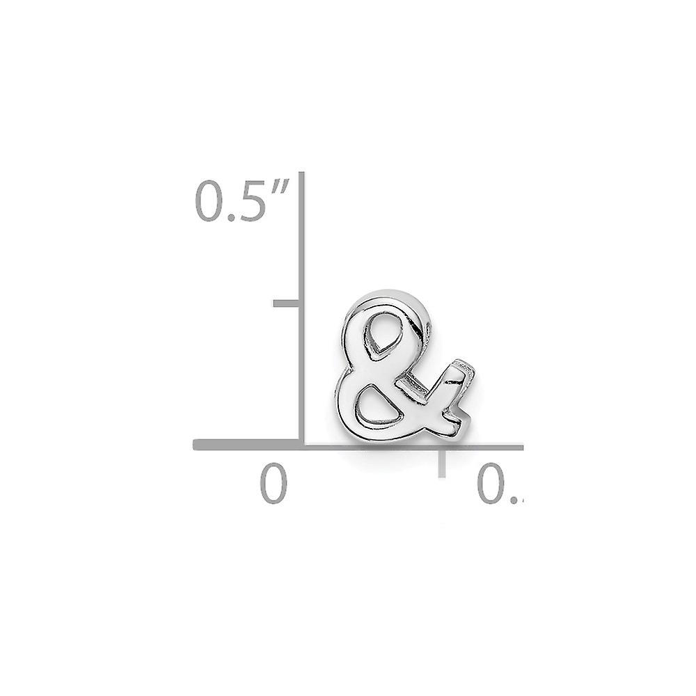 925 Sterling Silver Rhodium Plated Ampersand Slide Charm Pendant Necklace Jewelry Gifts for Women