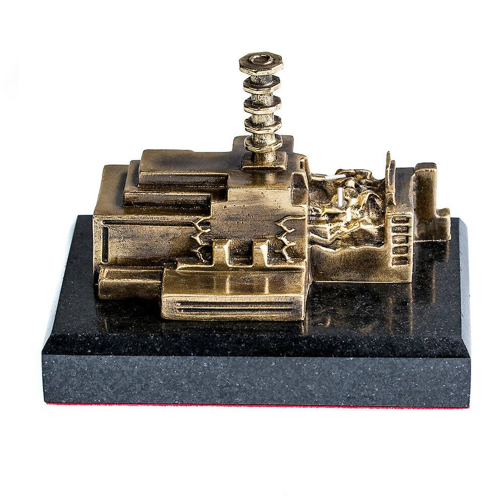 The Chernobyl Nuclear Power Plant stone - Bronze Miniature Statue with Tritium