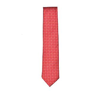Eton Silk Tie Red Patterned