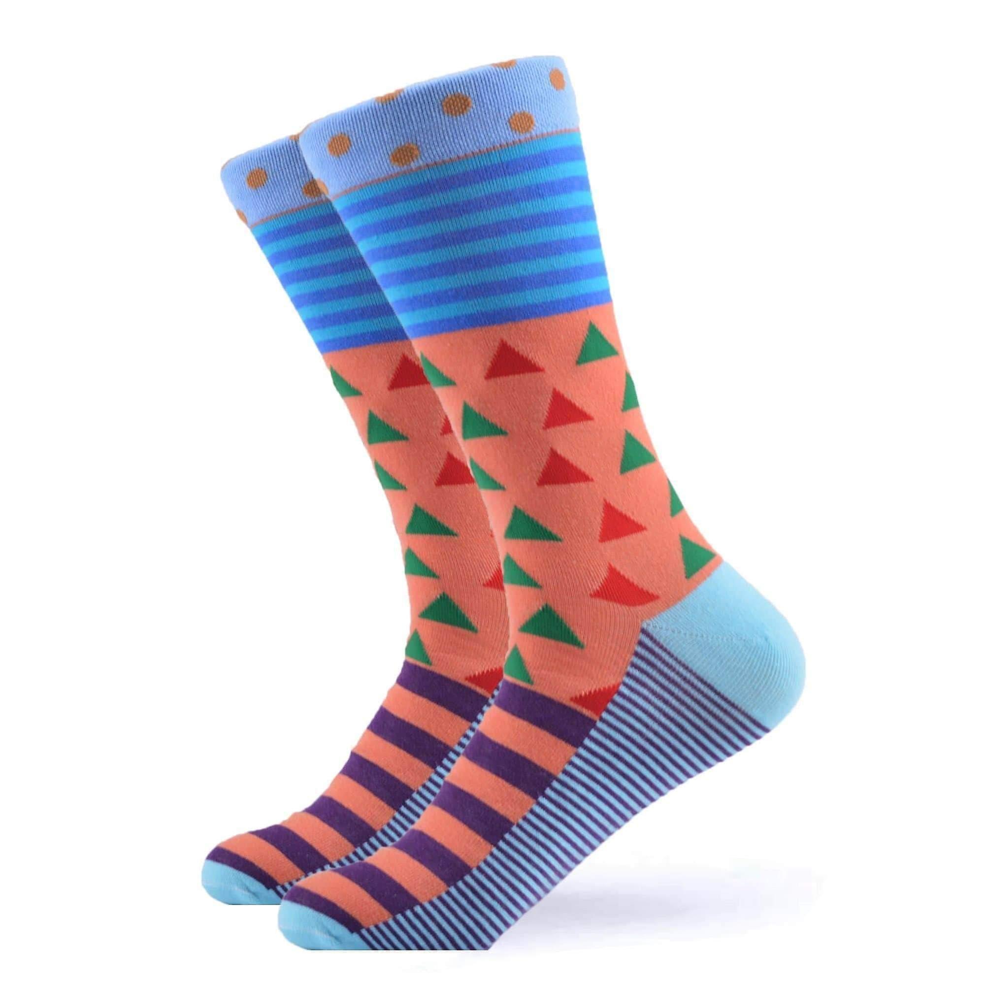 Men's stripe & spot gift 3 pairs of socks