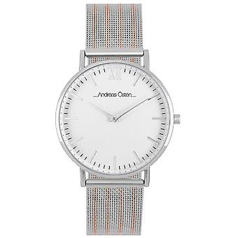 Andreas osten Quartz Analog Woman Watch with AOP1913 Stainless Steel Bracelet