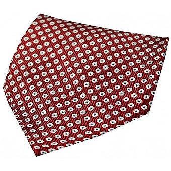 David Van Hagen Spots Silk Handkerchief - Red/White/Blue