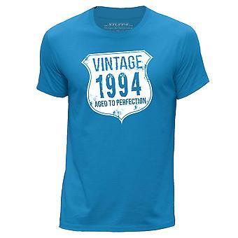 STUFF4 Men's Round Neck T-Shirt/ Vintage Born In 1994/Blue
