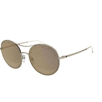 Emporio Armani EA2081 MATTE PALE GOLD light brown mirror dark gold