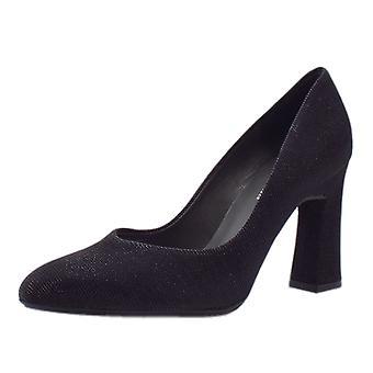 Peter Kaiser Klara Glitz Court Shoe In Black Shimmer