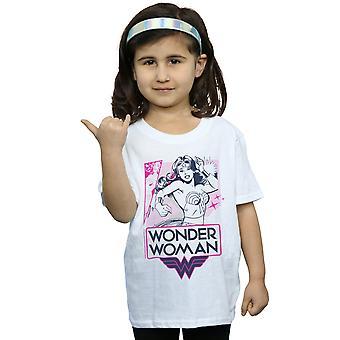 DC Comics Girls Wonder Woman Pink Action T-paita