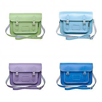 Zatchels Womens/Ladies Handcrafted Pastel Leather Satchel Bag (British Made)