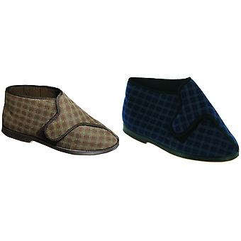 GBS Keswick Touch Fastening Bootee / Mens Slippers / Mens Bootee