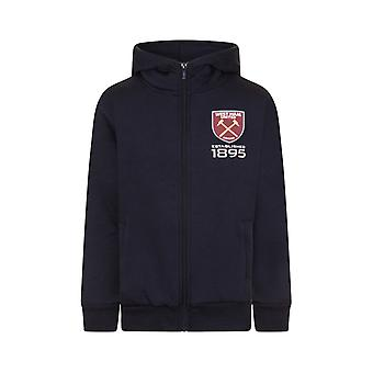 West Ham United Boys Hoody Zip Fleece Kids OFFICIAL Football Gift