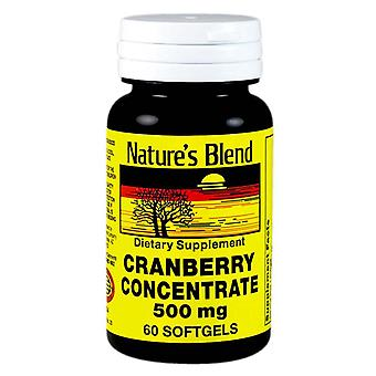 Nature's blend cranberry concentrate, 500 mg, softgels, 60 ea