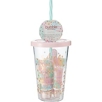 Style & Grace Bubble Boutique Travel Cup Mini Collection - 30ml Hand Lotion, 8ml Lip Gloss, Nail File and Drinking Cup