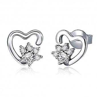 Silver Earrings Classic Heart - 6509