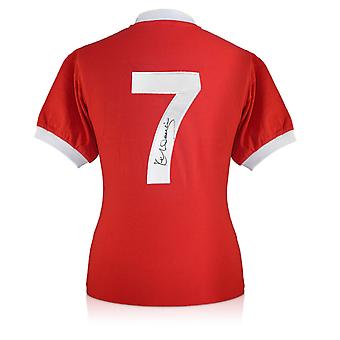 Kenny Dalglish a signé le maillot de Liverpool. Numéro 7