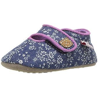 See Kai Run Girls' Cruz CRB Crib Shoe, Blue Flowers, M M US Infant