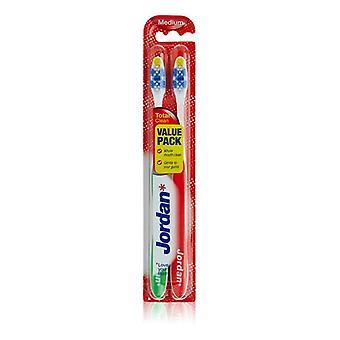 Zahnbürste Total Clean Medium Jordan (2 uds)
