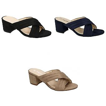 أن ميشيل النسائي/السيدات منتصف الكعب X حزام الرقعة أحذية