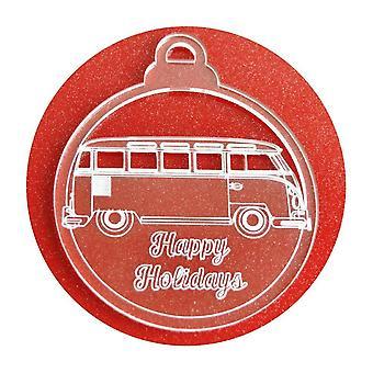 6 Pk 幸せな休日のキャンピングカー ・ ヴァン ・ アクリル クリスマスの装飾