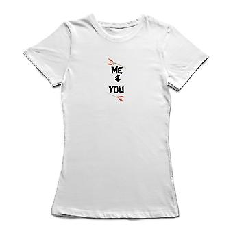 Me And You Flower Graphic Women's T-shirt