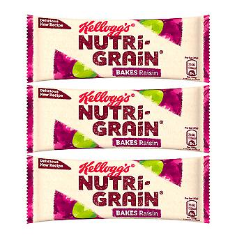 6 X 45g Kellogs Nutri Grain Bars Raisin Healthy Food Tasty