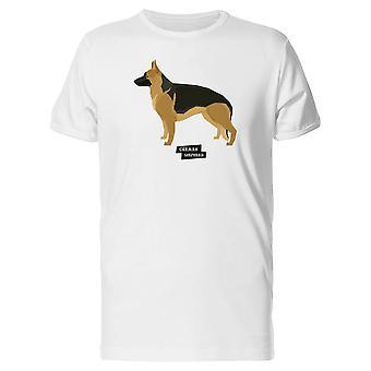 German Shepherd Geometric Style Tee Men's -Image by Shutterstock