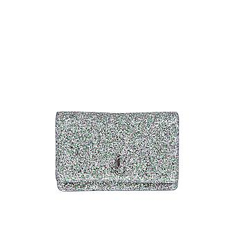 Jimmy Choo Palacecgfsilver Women's Silver Leather Shoulder Bag