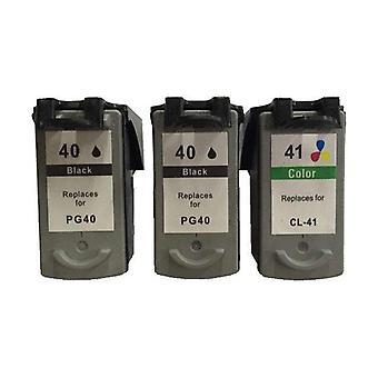 Remanufactured Value Pack 2x PG40 Schwarz und 1x CL41 Farbe Neuer Chip