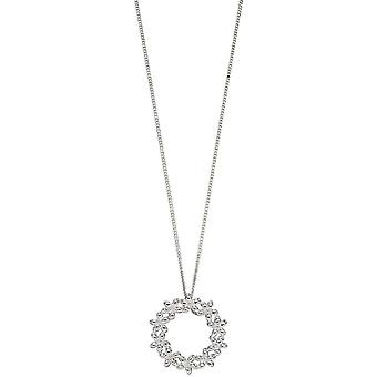 Elements Silver Flower Garland Pendant - Silver
