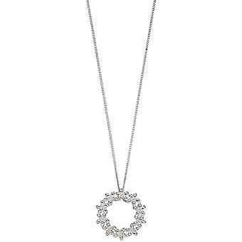 elementer sølv blomst krans anheng - sølv