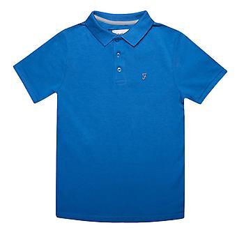 Boy's Farah Junior Bugsworth Polo Camisa en Azul