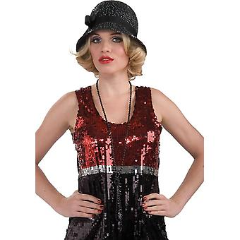 امرأة شابه قبعة الترتر للكبار