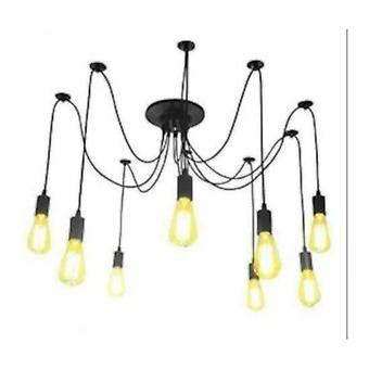 Jandei hängande lampa 8 svarta trådar 8 PortalM27 Svart