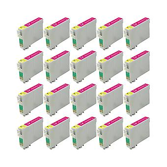 RudyTwos 20x Replacement for Epson Seahorse Ink Unit LightMagenta Compatible with Stylus Photo R200, R220, R300, R300M, R320, R325, R330, R340, R350, RX300, RX320, RX500, RX600, RX620, RX640