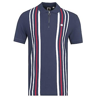 Mooie groene Colgate korte mouw Navy Polo Shirt