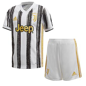 adidas Juventus 2020/21 Kids Junior Mini Home Serie A Football Kit Black/White