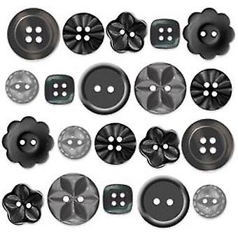 تصميم Doodlebug خنفساء أسود بوتيك أزرار (20pcs) (2481)