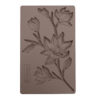 Re-Design met Prima Forest Floral 5x8 Inch Mould